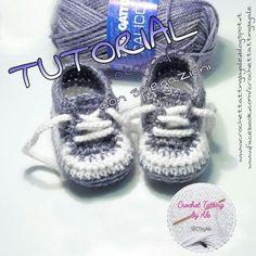 ♡ Crochet Tatting by Ale ♡ Crochet Flower Hat, Crochet Baby Hat Patterns, Crochet Vest Pattern, Crochet Baby Boots, Knit Baby Booties, Crochet Shoes, Baby Blanket Crochet, Baby Shoes Tutorial, Crochet Converse