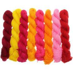 Fifties Gradient - Farbpalette Gelb bis Neonpink
