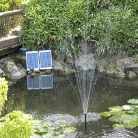 Solar Water Fountain with Battery Backup Sunspray SE 2000 Garden Water Pump, Water Fountain Pumps, Pond Pumps, 12v Solar Panel, Solar Panel Cost, Large Water Features, Water Features In The Garden, Solar Pond, Solar Powered Water Pump
