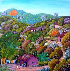 El Salvador ~ Alonso Flores ~ The Fruit Vendor Latino Artists, Art Brut, Arte Popular, Naive Art, Japanese Art, Art Images, Bunt, Folk Art, Fine Art Prints
