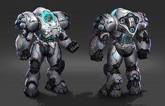 Starcraft 2 - Combat suit-Coolest suits of armor Combat Suit, Combat Armor, Cyberpunk, Robot Concept Art, Armor Concept, Game Concept, Robot Art, Futuristic Armour, Starcraft 2