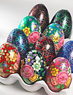 Springtime kashmiri eggs papier mache artisan and egg handpainted kashmiri large egg decorations home gifts namaste fair trade namaste uk ltd negle Choice Image