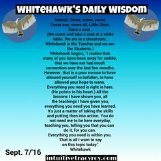 Morning Little Hawks, Some wise guidance from our sage this morning. #intuitive #intuition #higherconsciousness