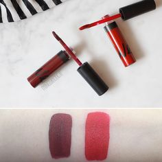 WeMakeUp - Ever Liquid Lipstick - Amiata Aubergine (08), Etna Red (08)