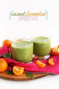 5 Ingredient Coconut Clementine Smoothie! #vegan #glutenfree