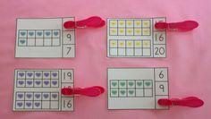 Valentine Candy Hearts Ten Frames Math Centers Quantities to 20 Kindergarten Math Games, Math Math, Math Classroom, Fun Math, Math Multiplication, Teaching Activities, Maths, Teaching Ideas, Valentine Candy Hearts