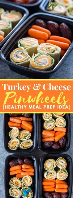TURKEY AND CHEESE PINWHEELS (MEAL-PREP IDEA) #healthy #diet TURKEY AND CHEESE PINWHEELS (MEAL-PREP IDEA) #healthy #diet #mealprep #lowcarb #snacks<br> Turkey, cheddar, lettuce and cream cheddar folded up in tortillas and cut into scaled down pinwheels. These little bites are very fast and simple to… Lunch Meal Prep, Meal Prep Bowls, Easy Meal Prep, Healthy Diet Recipes, Healthy Eating, Healthy Food, Healthy Lunches, Fun Recipes, Healthy Protein