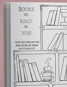 Bookshelf And Book Drawings The Asylum 2018 Planner Weekly Datebook Calendar With Journaling