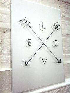Love Arrows Poster 3D String artwork