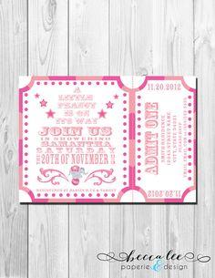 Carnival Baby Shower Invitation - Little Peanut - DIY - Printable Circus/Carnival First birthday! LOVE!!