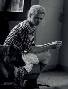 Lara Stone by Peter Lindbergh - Interview Magazine, March 2015.