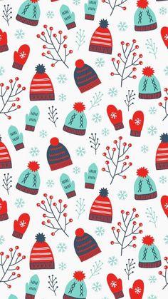 Christmas Phone Wallpaper, Holiday Wallpaper, Winter Wallpaper, Winter Christmas, Christmas Themes, Christmas Cards, Illustration Noel, Christmas Illustration, Iphone Background Wallpaper