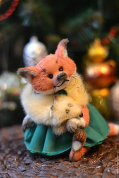Купить Лисичка Фокси - рыжий, лиса, лисичка, тедди, игрушка из меха, тедди лиса