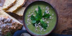 I Quit Sugar Pea + Broccoli Soup by Jacqueline Alwill