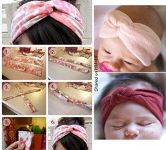 So simple!  Making baby head wraps for little princess before she gets here!