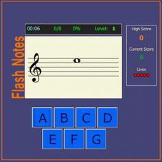 Great online list of music learning games...LOVE the Wack a Note game!! :)