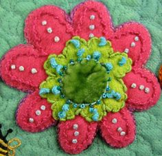 Newsletter from Sue Spargo Wool Embroidery, Hand Embroidery Stitches, Silk Ribbon Embroidery, Wool Quilts, Flower Quilts, Felt Applique, Felted Wool, Wool Felt, Felt Crafts