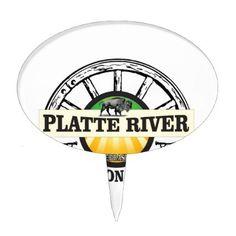 platte river ot marker cake topper - plain gifts style diy cyo
