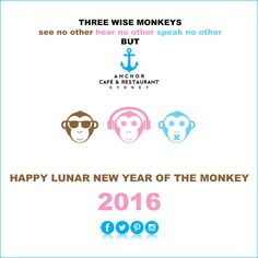 HAPPY LUNAR NEW YEAR OF THE MONKEY 2016 ⚓ ANCHOR Cafe & Restaurant - Taste the difference!  #3wisemonkeys #threewisemonkeys #mizaru #kikazaru #iwazaru (...or mizaru #mikazaru #mazaru) #seenoevil #hearnoevil #speaknoevil #2016 #cny #cny2016 #lunarnewyear #lunarnewyear2016 #chinesenewyear #chinesenewyear2016 #yearofthemonkey #newyear #happychinesenewyear #anchor #anchorcafe #anchorrestaurant #anchorestaurant #milsonspoint #kirribilli #lavenderbay #northsydney #northshore #mosman