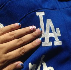 Dodgers nails! Raise your hand if you're a Dodgers fan!!
