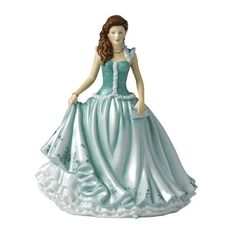 "Royal Doulton Ladies Figurine Karen (Green) 8.7"" Royal Doulton Pretty Ladies,  GIFTS FOR FRIENDS   if you wish to buy just CLICK on AMAZON right HERE  http://www.amazon.com/dp/B00BBQHINO/ref=cm_sw_r_pi_dp_DKsOsb1FMXMD8ZQV"
