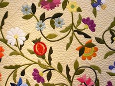 appliqué and quilting