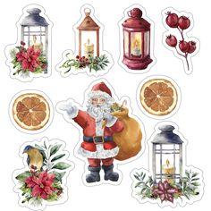 Christmas Topper, Classy Christmas, Printable Scrapbook Paper, Printable Stickers, Christmas Stickers, Christmas Printables, Christmas Images, Christmas Art, Journal Stickers
