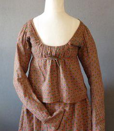 1820's Two-Piece Dress
