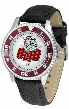 Minnesota (Duluth) Bulldogs Competitor Men's Watch with Nylon / Leather Band by SunTime. $68.95. The hottest sports watch on the market, the Competitor features the Minnesota (Duluth) Bulldogs team logo boldly displayed on the dial along with a colorful rotating timer/bezel, quartz accurate movement and leather/nylon strap. The combined leather underneath and nylon on top makes the watch water resistant as well.¶Wear it to a game, while watching a game or just ...