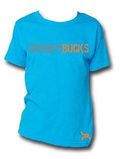Hooey® Youth Roughy Bucks Neon Blue Tee