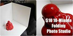 DIY $10, 10-Minute Folding Photo Studio Tutorial