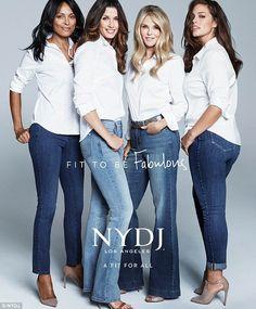 Star power: Lana Ogilvie (left),Bridget Moynahan (second from left), Christie Brinkley (s...