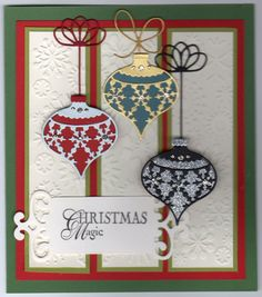 Simple Christmas card using Memory Box dies