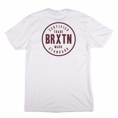 Brixton Cowen Standard Tee: American lifestyle brand Brixton take inspiration from skate, surf and garage rock culture culminating in the perfect blend of modern Americana casual-wear. This the Cowen Standard T-Shirt screen printed in the USA on their heavier weight gage T-Shirt.
