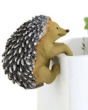 "2.25"" Hedgehog Flower Pot Hugger Fairy Garden Terrarium Dollhouse Miniature"