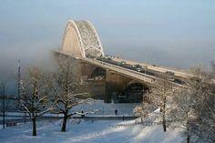 Nijmegen, bridge over the river Waal