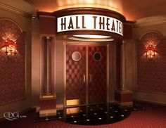 My dream house has a home theater in it. OR perhaps more accurately my home theater has a dream house surrounding it. Home Cinema Room, Home Theater Decor, Best Home Theater, At Home Movie Theater, Home Theater Rooms, Home Theater Design, Design Entrée, Lobby Design, House Design
