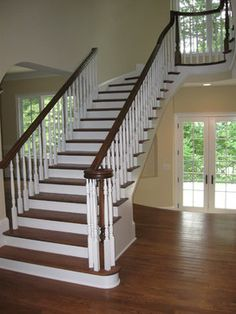 Dark Stair Bannister Design Ideas, Pictures, Remodel, and Decor