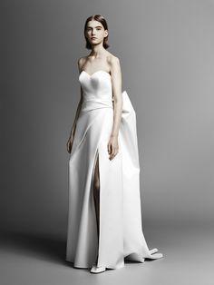 La robe a noeud de la collection Viktor & Rolf Bridal Spring 2019