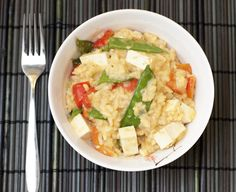 red curry risotto.
