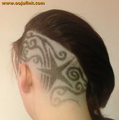 Big star and swirls | Oojufink hairtattoo