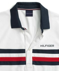 Tommy Hilfiger Adaptive Men's Knit Polo Shirt with Magnetic Closure - White L Polo Rugby Shirt, Rugby Shirts, Casual Attire, Casual Outfits, Men Casual, Camisa Polo, Tommy Hilfiger Shirts, Style Men, Mens Fashion