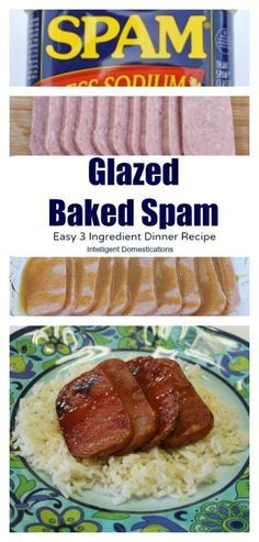 Glazed Baked Spam is an easy 3 ingredient dinner recipe. How to make baked spam. Spam recipe.