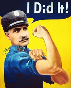 Reza shah: I Did It - parody of j. Howard Miller's poster design by Mehdi MMirzaie - political posters