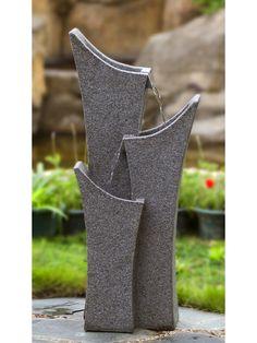 Gray Sandstone Indoor/Outdoor Water Fountain - Garden Fountains & Outdoor Decor