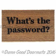 What's the Password funny floor mat doormat