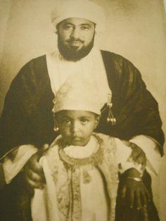 Sultan Qaboos and his father, Sultan Said Bin Taimur.