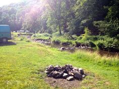 Riverside campfires and a magical woodland setting in the Exmoor National Park.