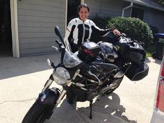 She conquered her fears and took her first solo motorcycle trip on a Ducati Monster 696; read her story here.