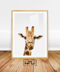This positive and colorful giraffe print reminds of childhood and sunny weekend walks in zoo. This animal art would revive any room with its funny look. Kids would be delighted by that nursery animal print hanging on the wall of playroom for sure. Print wall art number 4-5 More Animals Prints -